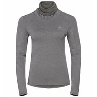 Damen ACTIVE THERMIC Baselayer-Top mit Rollkragen, grey melange, large