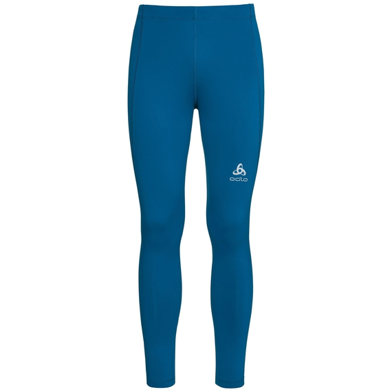 SLIQ running Tights men, mykonos blue, large