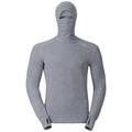 Men's ACTIVE WARM Long-Sleeve Base Layer Top with Face Mask, grey melange, large