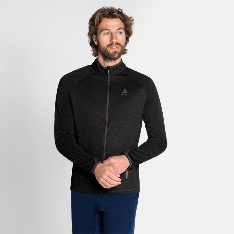 Men's PROITA Full-Zip Mid Layer Top, black, large