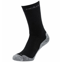 Unisex ACTIVE WARM HIKING Crew Socks, black, large