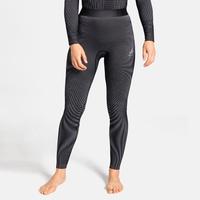 Women's ODLO FUTURESKIN Base Layer Pants, black - white, large