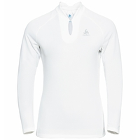 F-DRY-T-shirt met lange mouwen voor dames, white, large