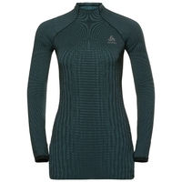Women's ODLO FUTURESKIN Long-Sleeve Base Layer Top, stormy weather - black, large