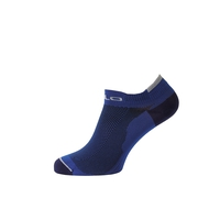 Socks short CERAMICOOL LOW CUT, sodalite blue - odlo concrete grey, large