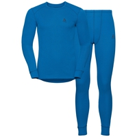 Men's ACTIVE WARM Long Sleeve Base Layer Set, directoire blue, large