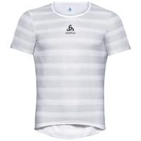 Maglia Base Layer da ciclismo ZEROWEIGHT da uomo, white - odlo silver grey, large