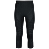 EVOLUTION WARM baselayer driekwartbroek, black - odlo graphite grey, large