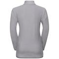 ROYALE KIDS STRIPE 1/2 Zip Midlayer, white - odlo concrete grey - stripes, large