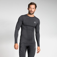 Men's ODLO FUTURESKIN Long-Sleeve Base Layer Top, black - white, large