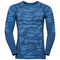Men's BLACKCOMB Long-Sleeve Base Layer Top, estate blue - directoire blue - directoire blue, large