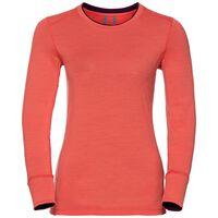 Natural 100 Merino Warm baselayer shirt voor dames, hot coral - pickled beet, large
