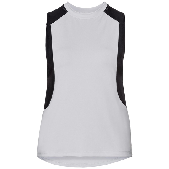Singlet crew neck BACK TO GYM, white - black, large