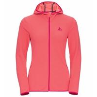 Sweat à capuche zippé ROY pour femme, beetroot purple - siesta - stripes, large