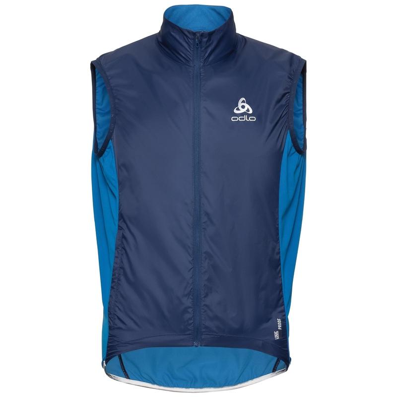 Men's ZEROWEIGHT Cycling Vest, estate blue - directoire blue, large
