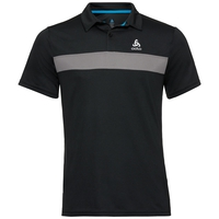 Men's NIKKO LIGHT Polo Shirt, black - odlo steel grey, large