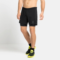 Men's ZEROWEIGHT 5 INCH BLACKPACK 2-in-1 Running Shorts, black - blackpack, large