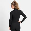 ACTIVE WARM ECO-basislaagtop met halve rits en col voor dames, black, large