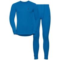 Men's ACTIVE WARM Long Sleeve Base Layer Set, directoire blue, large