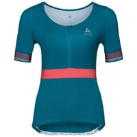 Maillot 1/2zip manches courtes et col montant CERAMICOOL X-LIGHT, crystal teal, large