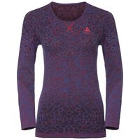 BL Top Crew neck l/s BLACKCOMB Light, energy blue - fiery red, large
