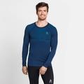 Herren PERFORMANCE LIGHT Baselayer Langarm-Shirt, estate blue - blue aster, large