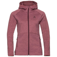 Damen HAVEN X-WARM Midlayer Hoody, roan rouge, large