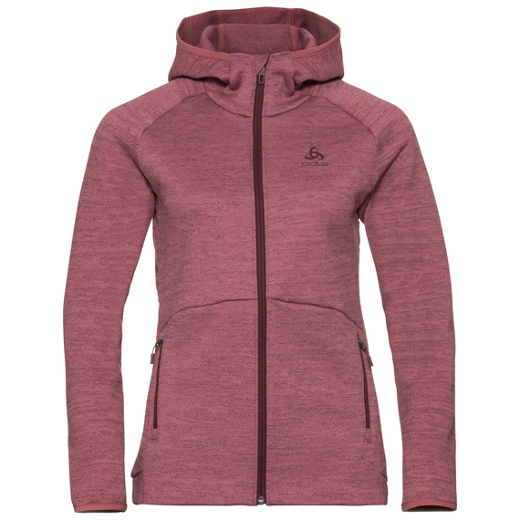 Midlayer con cappuccio HAVEN X-WARM da donna, roan rouge, large
