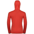 Women's SPOOR Midlayer Hoody, fiery red, large