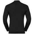SUW Top Natural 100 % MERINO Warm langärmeliges Oberteil mit halblangem Reißverschluss und Rollkragen, black - black, large