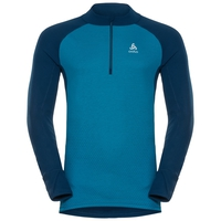 SVS top col roulé 1/2 zip manches longues active Revelstoke Warm, poseidon - blue jewel, large