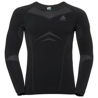 Men's PERFORMANCE EVOLUTION Base Layer Long-Sleeve Top, black - odlo graphite grey, large