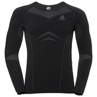 SUW Top Crew neck l/s PERFORMANCE Light, black - odlo graphite grey, large