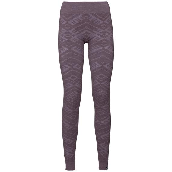 Damen NATURAL + KINSHIP WARM Funktionsunterwäsche Hose, vintage violet melange, large