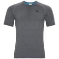 PERFORMANCE WARM-basislaag-T-shirt voor heren, grey melange - black, large