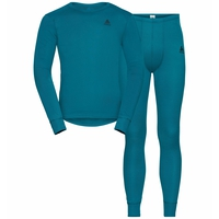 Men's ACTIVE WARM ECO Long Baselayer Set, tumultuous sea, large