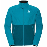 Men's ZEROWEIGHT PRO WARM Running Jacket, tumultuous sea - submerged, large