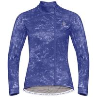 Damen ZEROWEIGHT CERAMIWARM Radsport Midlayer, clematis blue - AOP FW19, large