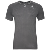 BL top girocollo manica corta Ceramicool Blackcomb Pro, odlo graphite grey, large