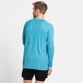 Men's ESSENTIAL SEAMLESS Long-Sleeve Running T-Shirt, horizon blue melange, large