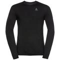 SUW Top Natural 100 % MERINO Warm langärmeliges Oberteil mit Rundhalsausschnitt, black - black, large