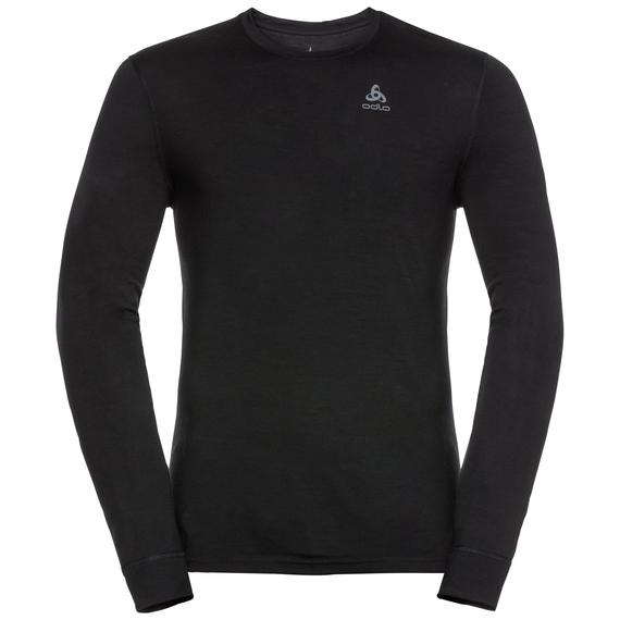 f1f23c8a1c37a Men's NATURAL 100% MERINO WARM Long-Sleeve Base Layer Top, black - black