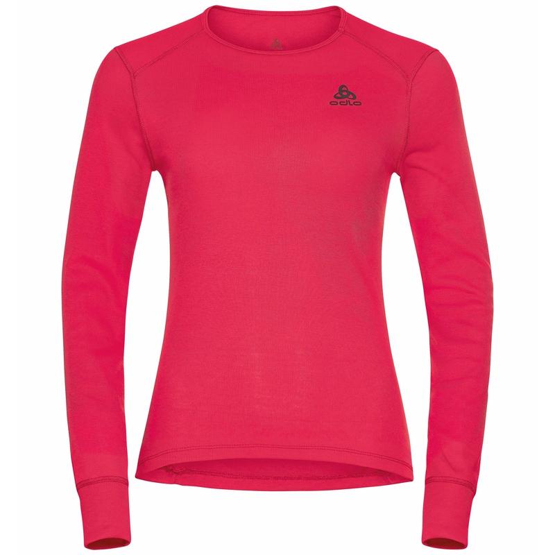 T-shirt à manches longues ACTIVE WARM ECO pour femme, deep claret, large