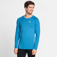 Men's SEAMLESS ELEMENT Long-Sleeve Top, blue aster melange, large