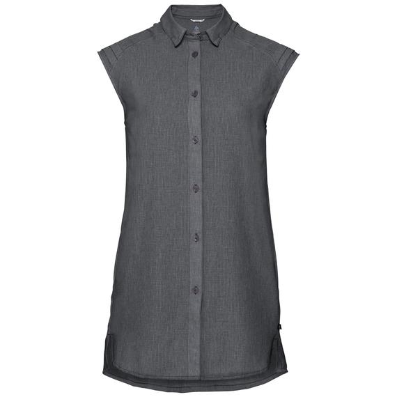 KUMANO RELAX kurzärmelige Bluse, grey melange, large