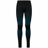 Pants ESSENTIALS seamless WARM, black - blue jewel, large