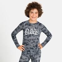 ACTIVE WARM ORIGINALS ECO KIDS-basislaagtop met lange mouwen, grey melange - graphic FW20, large