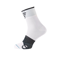 Socks short MID Light, white - black, large