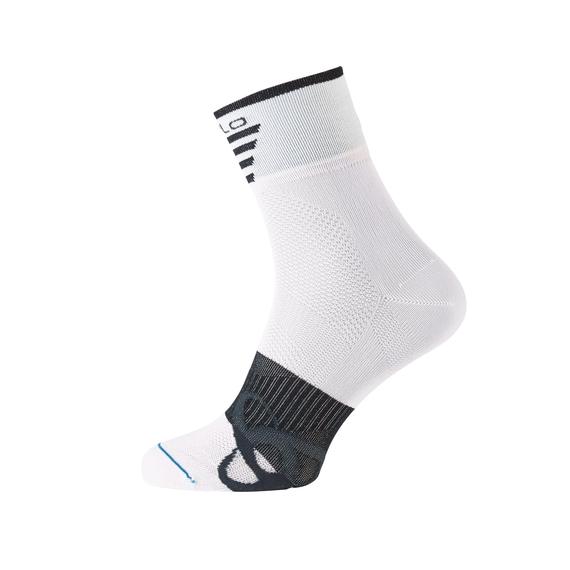 Socks short MID Light, white - black, large
