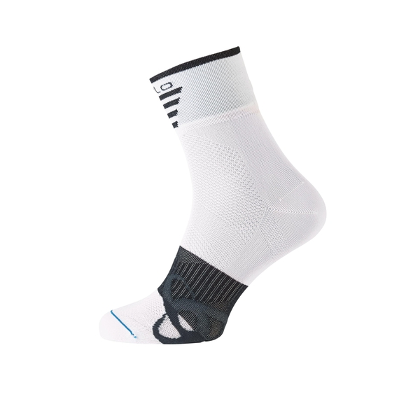 MID LIGHT kurze Socken, white - black, large